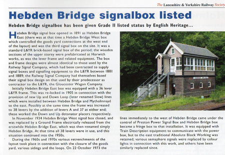LYRS article on signal box