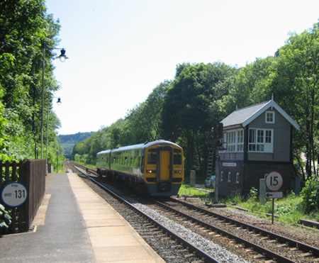 Train passing the signalbox